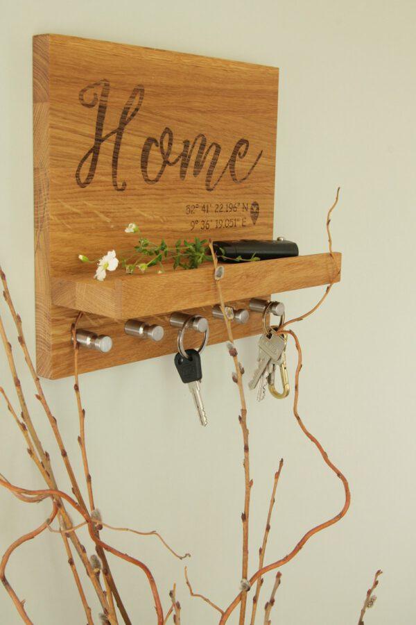 Schlüsselaufhängung Schriftzug Home