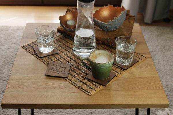 Untersetzer Holz für Gläser eckig