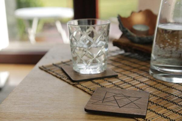 Untersetzer Holz für Gläser
