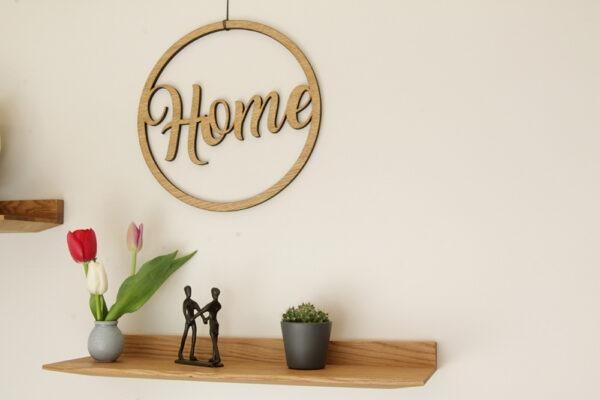 Home Holzschild