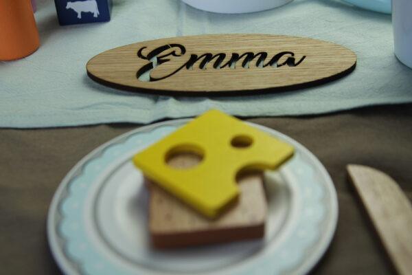 Tischdeko Namensschilder aus Holz