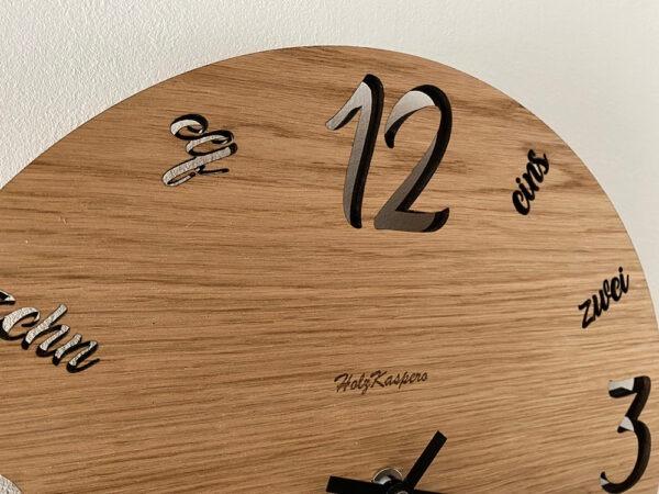 Wanduhr aus Holz Designerstück